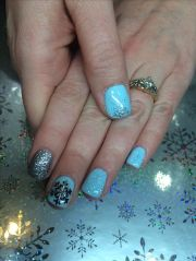 snowflake winter gel nail design
