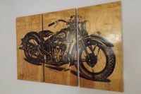 Vintage Indian Motorcycle Screen Print Wood Painting Wall ...