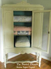 Vintage Linen Cabinet | Happy House | Pinterest