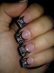 acrylic nail design cute