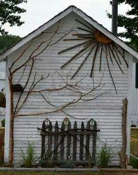 Decorated garden shed   gardening   Pinterest