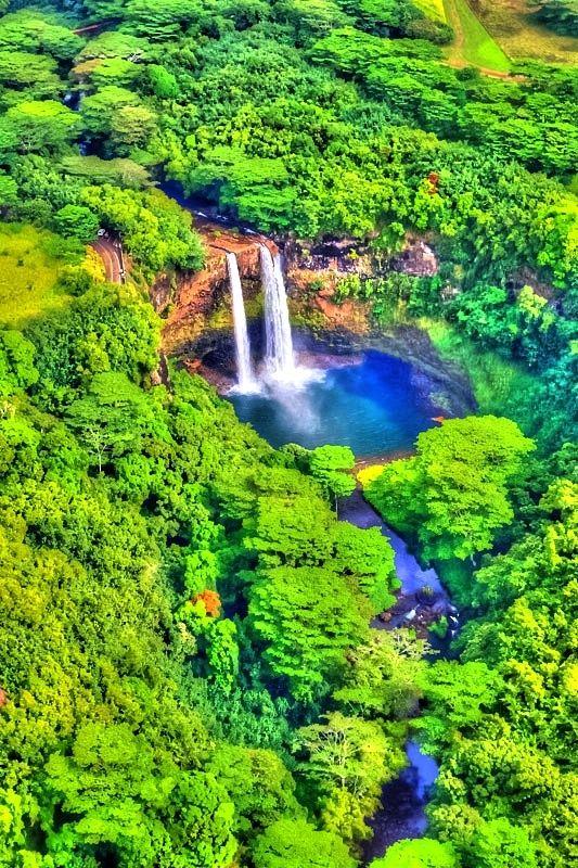 Waterfalls – Amazing Creation of Nature  Wailua Falls, Kauai, Hawaii.