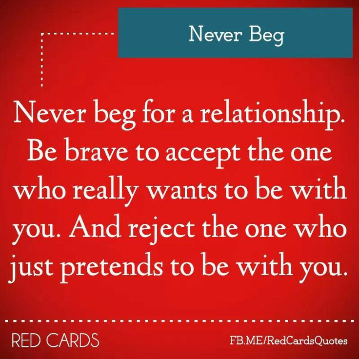 Beg Love Quotes Never