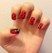 ladybug nails nail art & tutorials