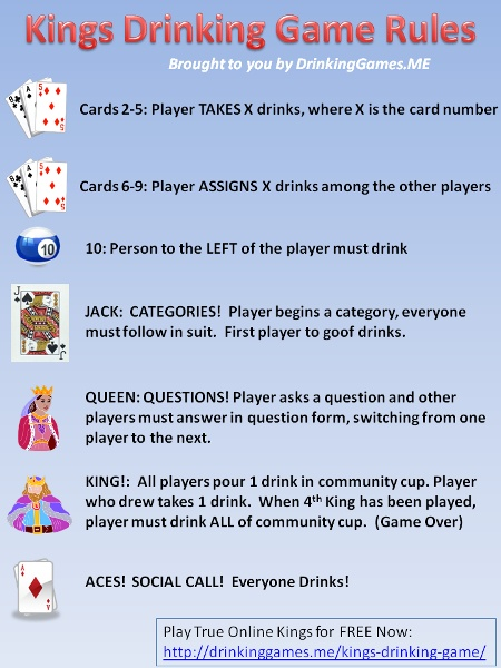 Drinker Holic kings drinking game
