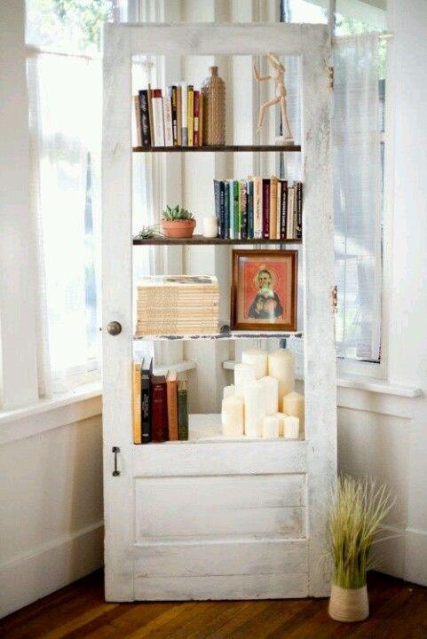 Door bookshelf