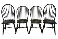 Black Windsor Chairs, Set of 4