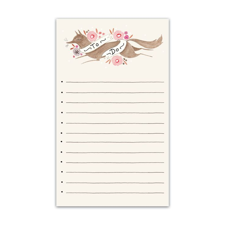 Print at home Fox To Do List by Julianna Swaney