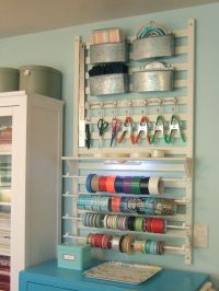 Wall storage for craft supplies | Crafts Rooms | Pinterest