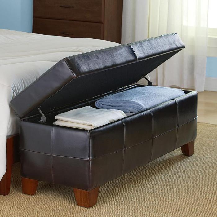 bedroom storage bench  Entertainment  Pinterest