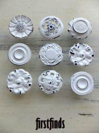 1 thru 6 Numbered Knobs Shabby Chic Cottage Door Cabinet