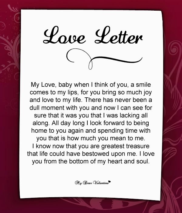 Valentines Day Letters Him