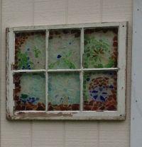 Sea glass window | craft ideas | Pinterest