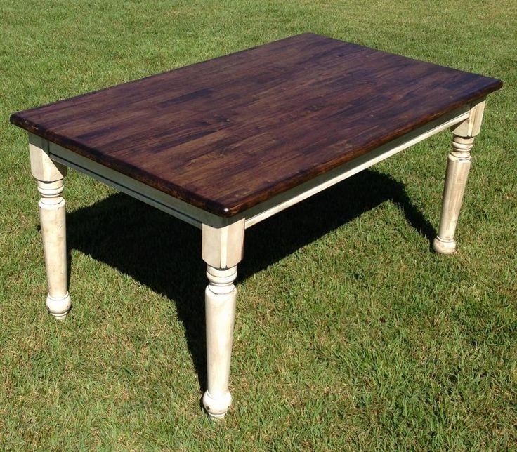 Farm table refinished  Refinishing kitchen table  Pinterest
