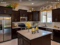 Dark cabinets with light granite