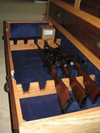Homemade Gun Cabinet | Home projects for the just barely ...