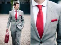 pink tie and grey suit | Men's Fashion | Pinterest
