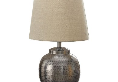 Hammered Metal Table Lamps