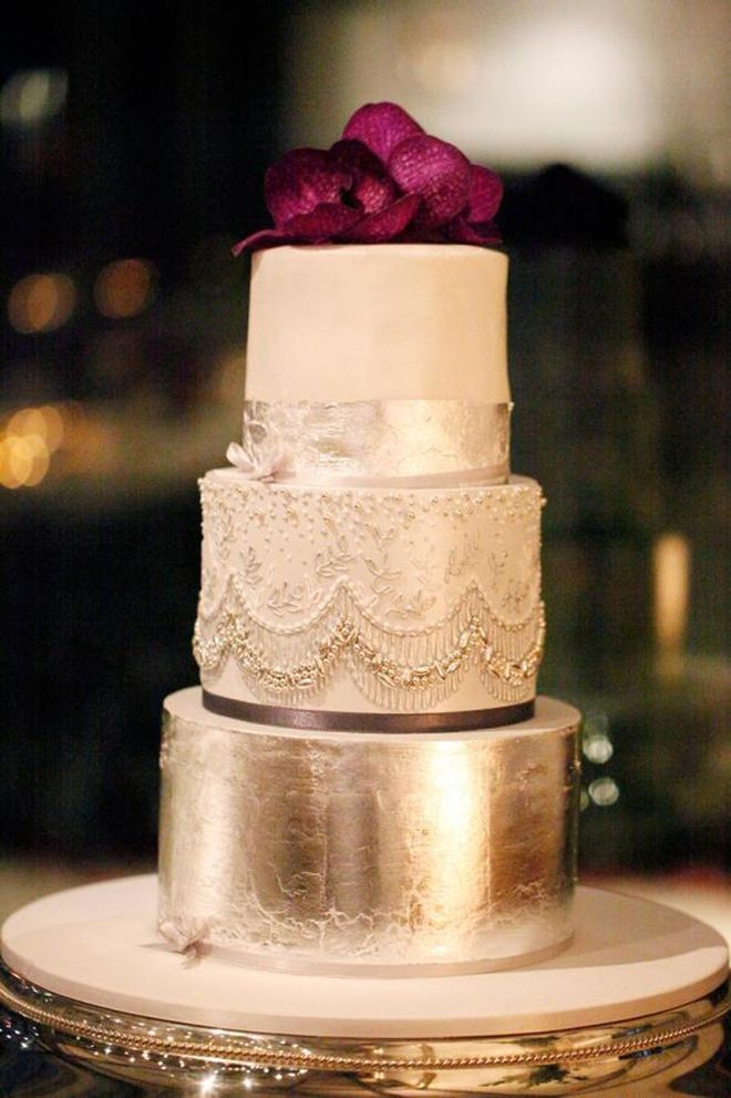 This is simply, in a single word - a STUNNING Silver and jeweled Bridal Shower or Wedding cake.  Glamorous Wedding Cakes - Part 2 - Belle the Magazine . The Wedding Blog For The Sophisticated Bride