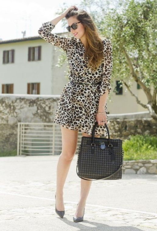 Leopard and black  , Primark in Dresses, Michael Kors in Bags
