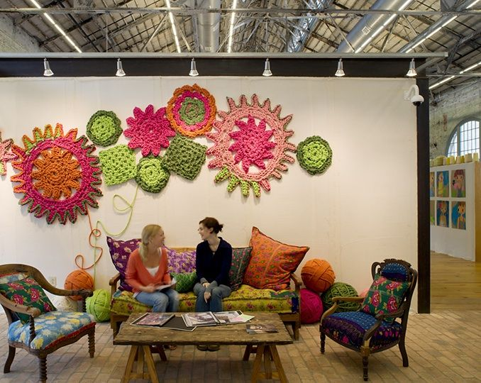 Giant crochet for wall decor!