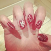 christmas nail #nails #art #gel