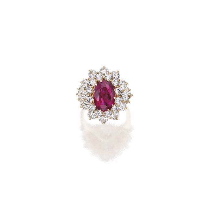 18 Karat Gold, Ruby and Diamond Ring   Lot   Sotheby's