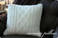 sweater pillow | Tutorials | Pinterest