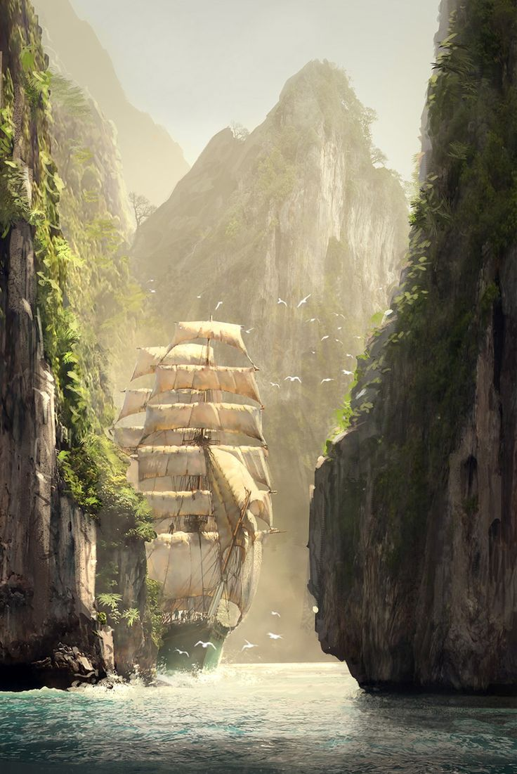 In the Kingdom ~ Along the Strait of Ara Lulia (Assassin's Creed concept, by R. Lacoste).