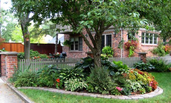 shade garden front yard landscaping