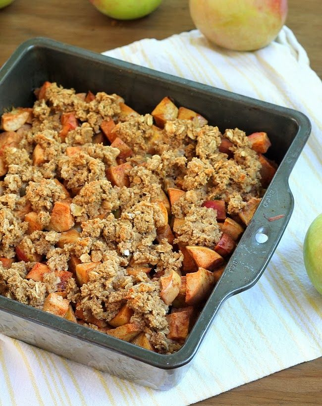 apple crumb bars vegangf recipes and brownies pinterest