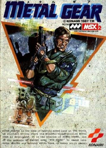 Metal Gear NES Front Cover 1987 MGS Pinterest