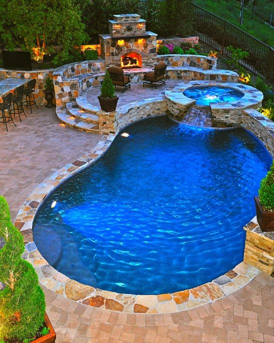 Fire pit, hot tub,