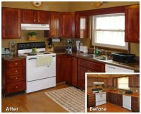 Before and After Kitchen-Refacing | Old house remodel ...