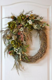 Front Door Wreath, Country Wreath, Summer Wreath, Fall ...
