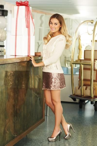 my favorite sparkly skirt from the holiday collection {lc lauren conrad}