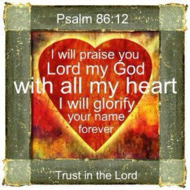 Psalm 86: 12