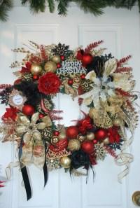 Victorian Christmas door wreath | WREATHS! | Pinterest