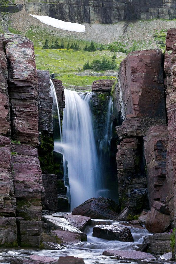 Triple Park Falls National Montana Glacier