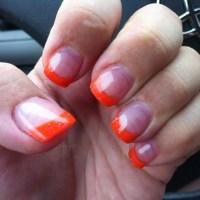 Orange Acrylic Nails - Nails Gallery