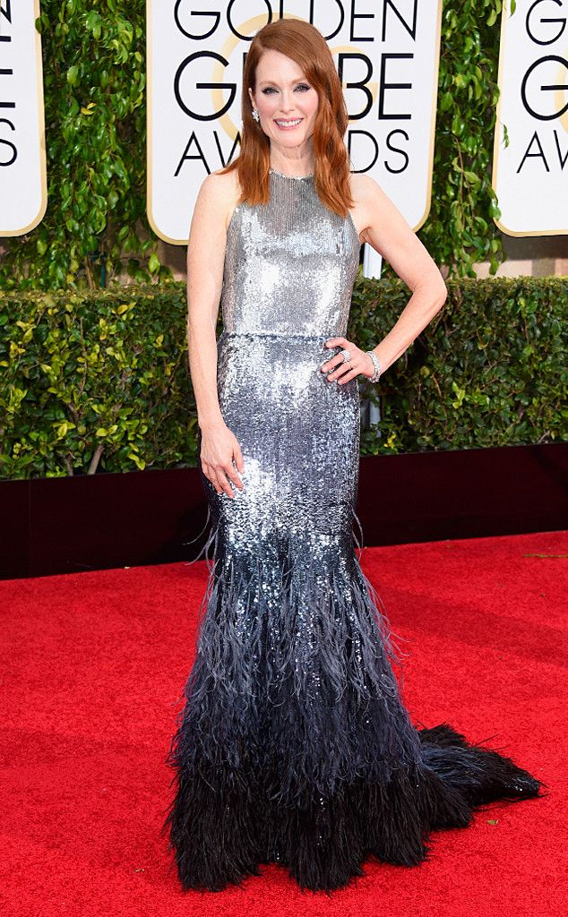 Julianne Moore from 2015 Golden Globes Red Carpet Arrivals | E! Online