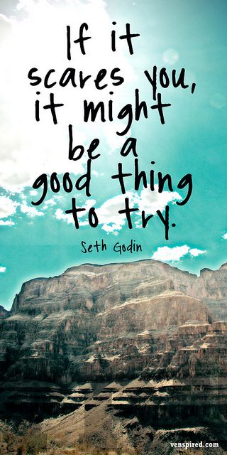 If your dreams don't scare you, they are not big enough. - Seth Godin #Godin