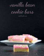 Vanilla Bean Cookie Bars