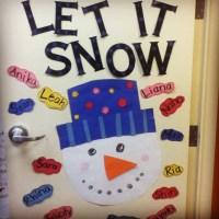 Classroom snowman door decoration | Kindergarten | Pinterest