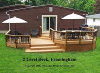 19 Decorative 2 Level Deck Ideas - Home Building Plans | 35441