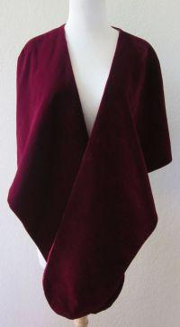 Vintage-Velvet Shawl-Velvet Wrap-Burgundy-Velvet Burgundy ...