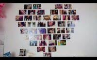DIY Heart Photo Collage | Winter Wonderland | Pinterest