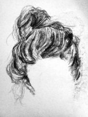 messy bun drawing art