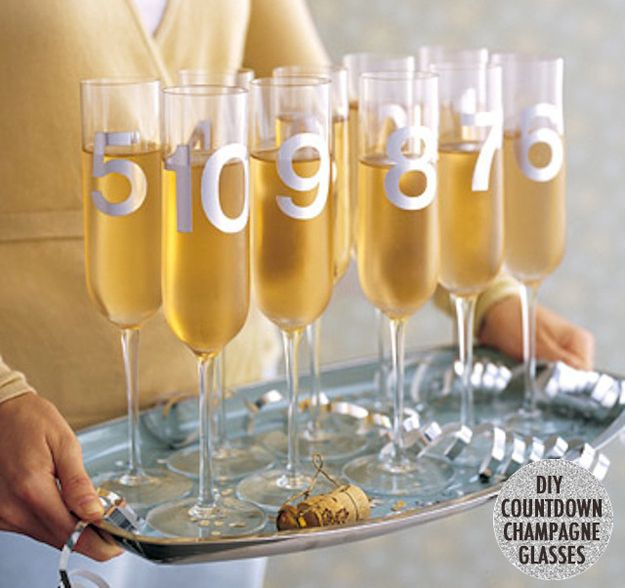 Drink out of countdown champagne flutes. | 21 Ways To Make This New Year's Eve So Much Better