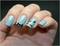 cat nail design | ::: cats ::: | Pinterest